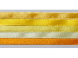 Zestaw Wstążek 6mm - Słoneczny Żółty