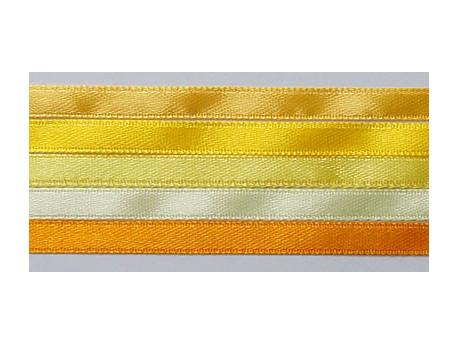 Zestaw Wstążek 6mm - Żółty