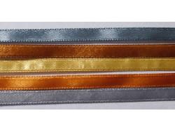 Zestaw Wstążek 6mm - Złoto-Srebrny