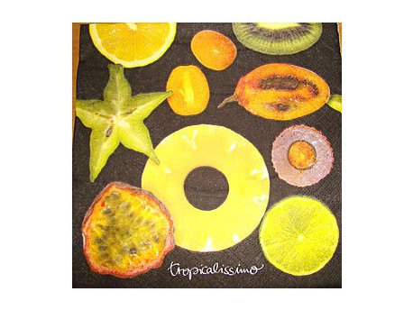 Serwetki Decoupage - Owoce Tropikalne
