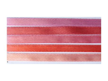Zestaw Wstążek 6mm - Peonia