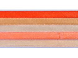 Zestaw Wstążek 6mm - Morela z Brzoskwinią