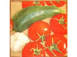 Serwetki Decoupage - Pomidory, Cukinia