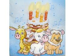 Serwetki Decoupage - Urodzinowy Tort
