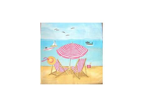 Serwetki Decoupage - Leżaki na Plaży